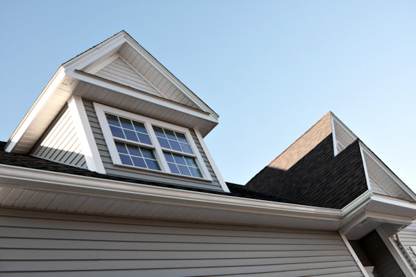 home with seamless gutters