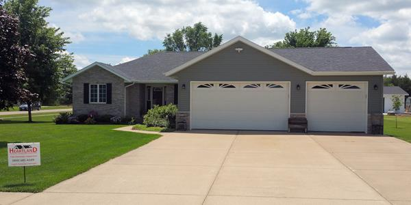 Iowa home with vinyl siding