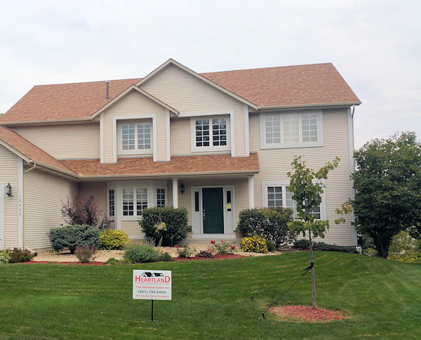 home with beautiful windows from Heartland Roofing, Siding and Windows